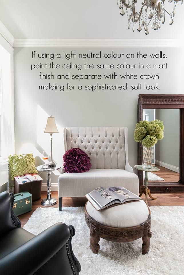 Tip For Painting The Ceiling And Walls! Https://www.facebook. Living Room  ...