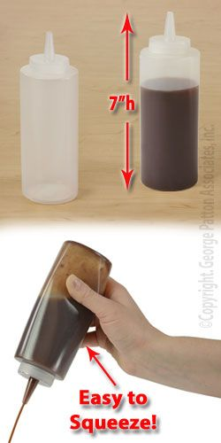 Clear Squeeze Bottle with Plastic Construction