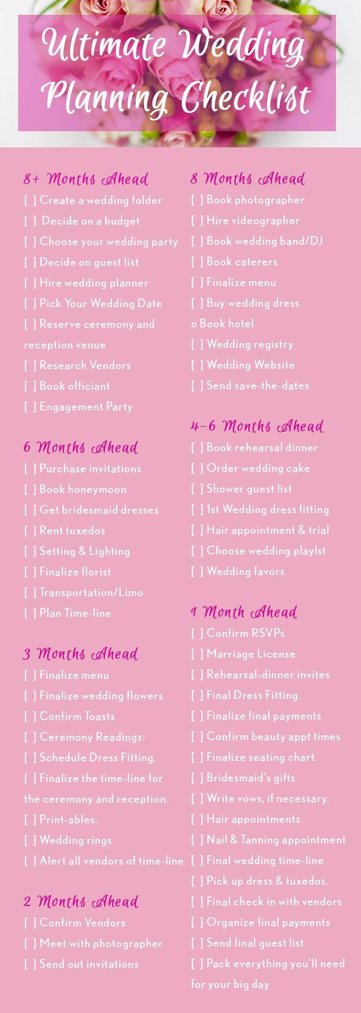 6 month wedding planning timeline
