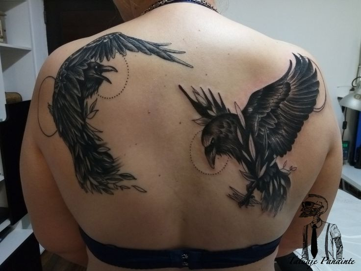 #ravens #tattoos on #back
