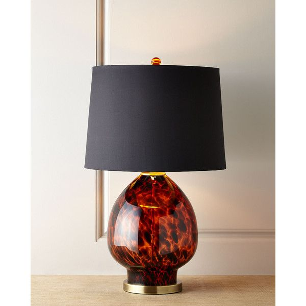 Tobias Tortoise Glass Table Lamp 313 CAD Liked On Polyvore Featuring Home