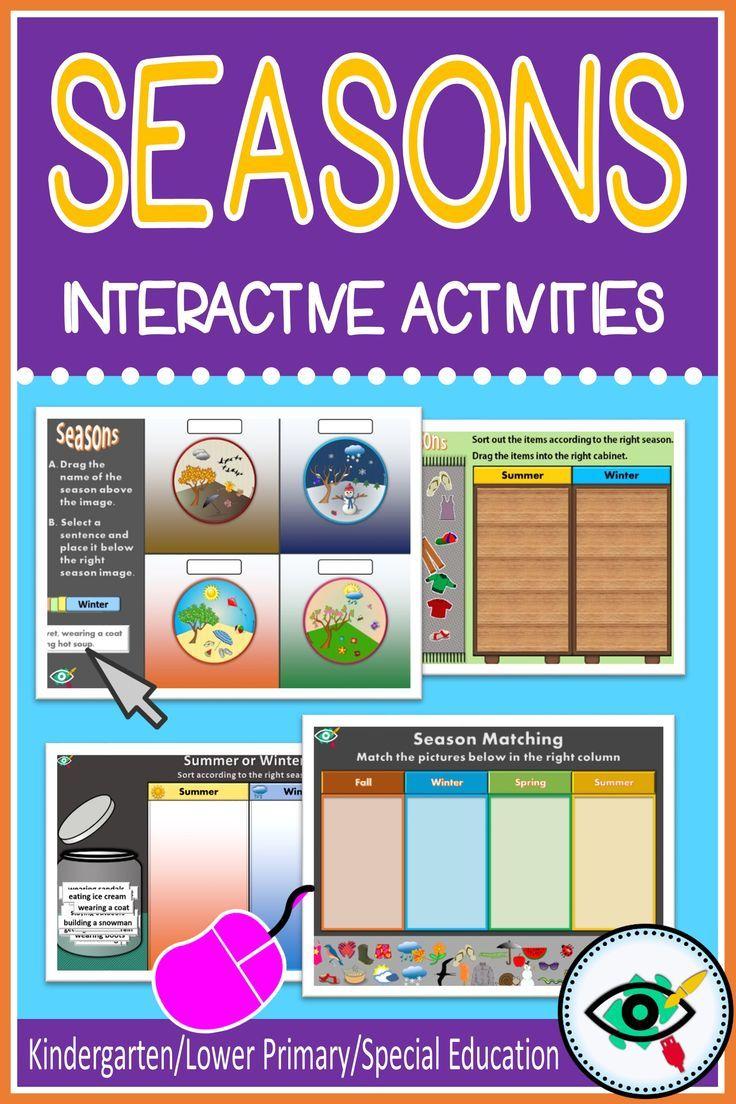 Seasons Kids Interactive Activities Teacher Activities First Grade Activities Interactive Activities [ 1104 x 736 Pixel ]