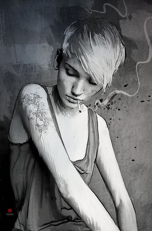I'm in love with a cigarette by christophe segura, via Behance