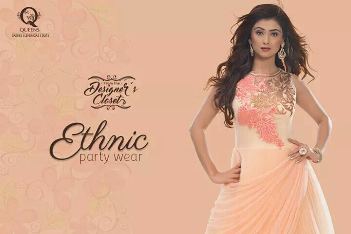 Stay updated with the latest party fashion with ethnic gowns from Queens Emporium. Whatsapp us on 9769278015 to know more.  #QueensEmporium #Gowns #PartyWear