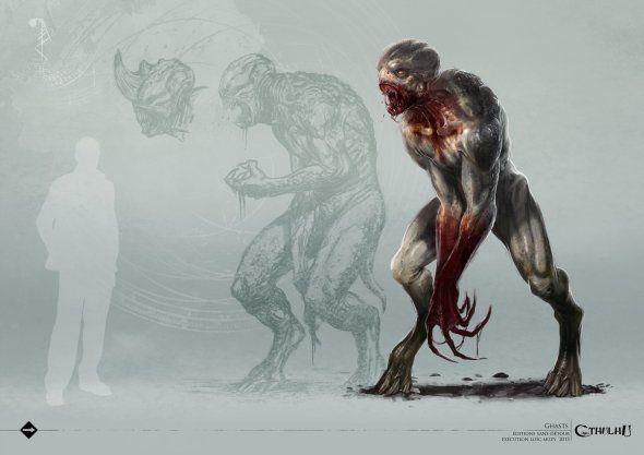 As ilustrações de horror e terror cósmico de Call of Cthulhu de Loïc Muzy