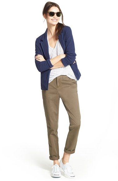 Caslon® Blazer, Tank & Ankle Pants available at #Nordstrom