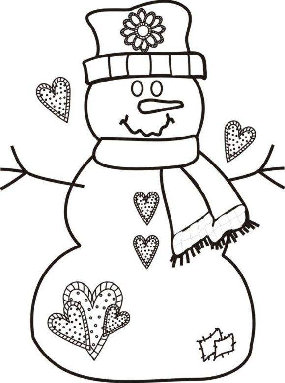 Rozhdestvenskaya Raskraska Besplatnye Rozhdestvenskie Raskraski Snegovik Printable Christmas Coloring Pages Snowman Coloring Pages Free Christmas Coloring Pages