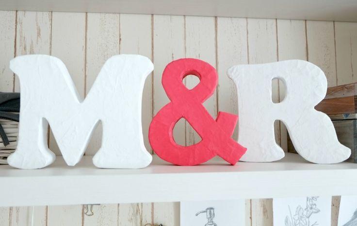 DIY decor letters