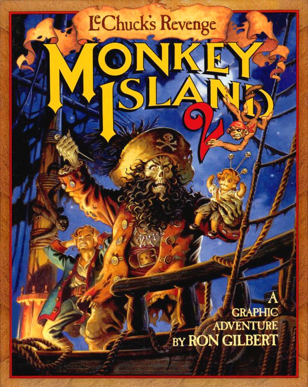 "Hey there, my fellow geeks and geekettes!  Today is #NationalVideoGamesDay!!! To celebrate it, here's the front cover of one of the best video games (and sequels) in the whole freaking history of video games. ""Monkey Island 2: LeChuck's Revenge""  #MonkeyIsland2 #MonkeyIsland2LeChucksRevenge #LeChucksRevenge #RonGilbert #LucasArts #LucasFilm #GraphicAdventure #PointAndClick #GuybrushThreepwood #Guybrush #LeChuck #Pirates #Comedy #VideoGames #VideoGame #Adventure"
