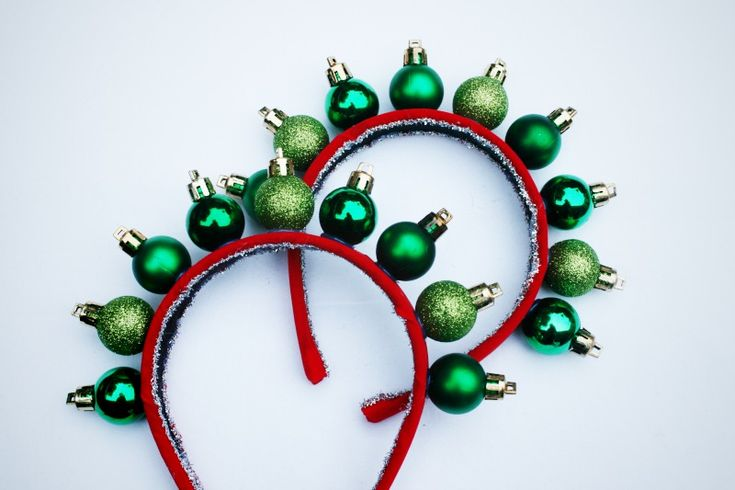 Get in the holiday spirit with this DIY ornament headband.