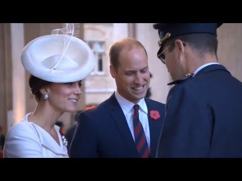 The Duke & Duchess of Cambridge attend the Passchendaele Commemorations ...