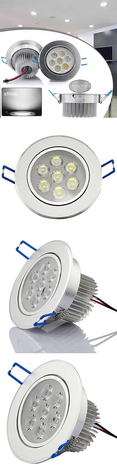 Lamps And Lighting: 6X 7W Led Ceiling Down Light Cool White Home Recessed Spotlight Lamp With Driver -> BUY IT NOW ONLY: $31.99 on eBay!