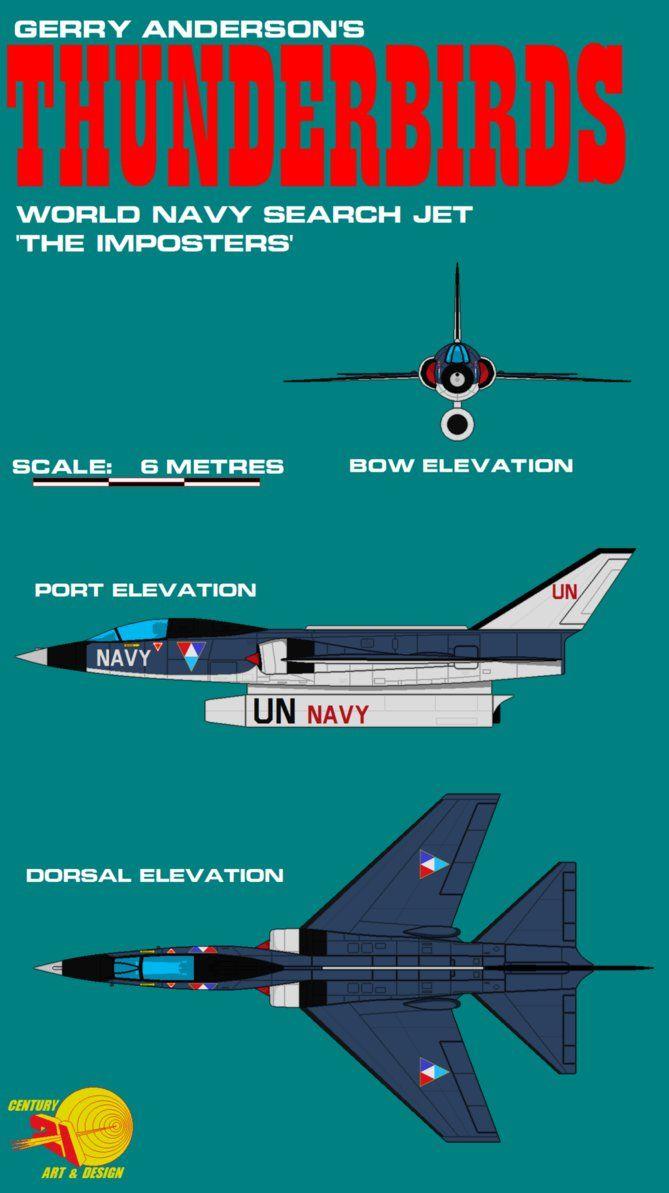 Gerry Andersons Thunderbirds Search Patrol Jet by ArthurTwosheds.deviantart.com on @DeviantArt