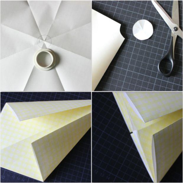 DIY - Origami Sternenhänger Lampe 1