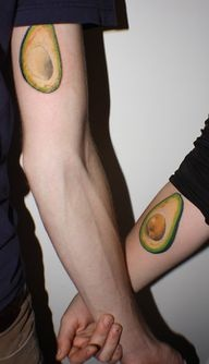 Though I think the idea of matching tattoos must put some sort of jinx on the relationship, this is adorable.