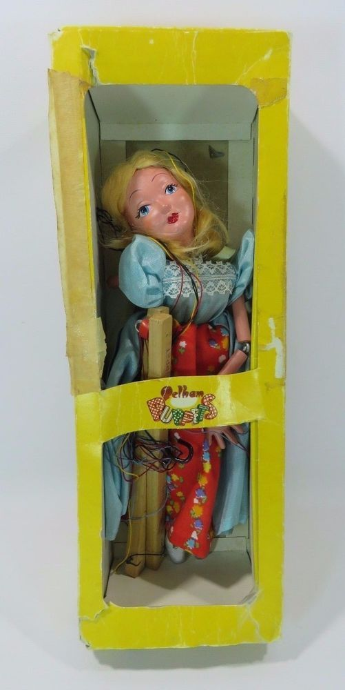 Pelham Puppets Marlborough Wilts Handmade Marionette Cinderella Original Box JH #PelhamPuppets