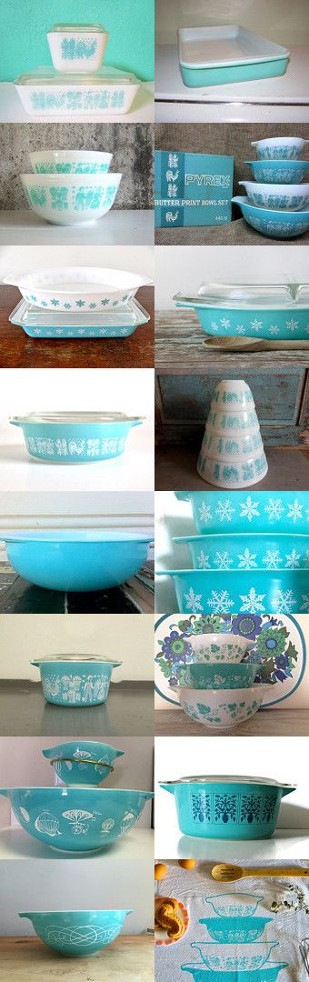 Turquoise Pyrex Love by Danielle and Mike on Etsy--Pinned with TreasuryPin.com