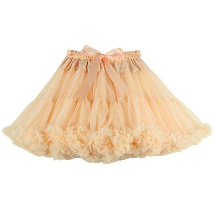 Free Shipping Womens Skirt Fluffy Chiffon Pettiskirts Tutu Skirts Girls Princess Dance Party For Lady