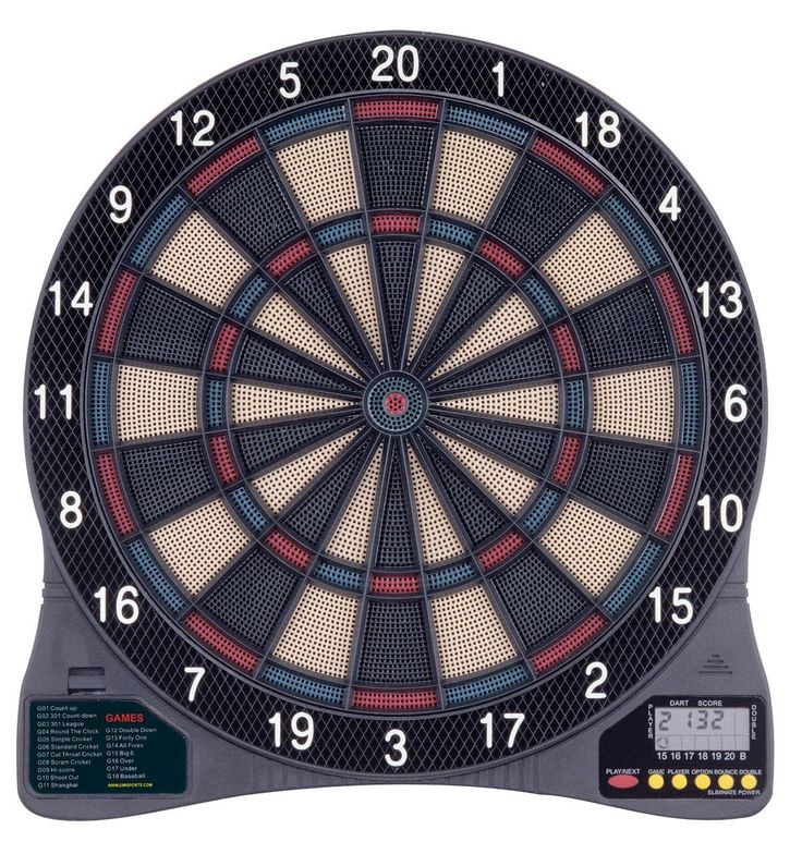 Bring the family together for friendly competition with the Arachnid DarTronic 100 electronic dart board with soft-tip darts. It provides 18 games with 96 options for up to 8 players (including four C