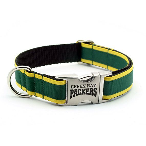 Hey, I found this really awesome Etsy listing at http://www.etsy.com/listing/82869055/green-bay-packers-dog-collar-with-laser