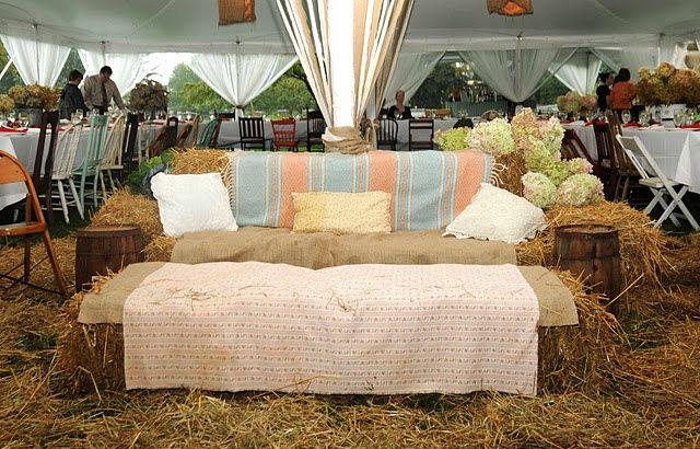 Hay Bail Wedding Seating | hay bail lounge seating | wedding day @2
