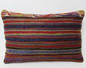 16x24 kilim pillow lumbar kilim floor pillow floor cushion cover tribal cushion primitive decor contemporary pillow floral pillow case 28599