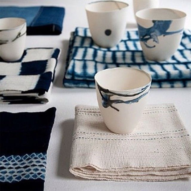 japanese indigo. Maybe marlin can teach us some of these glazing techniques for the candle holders