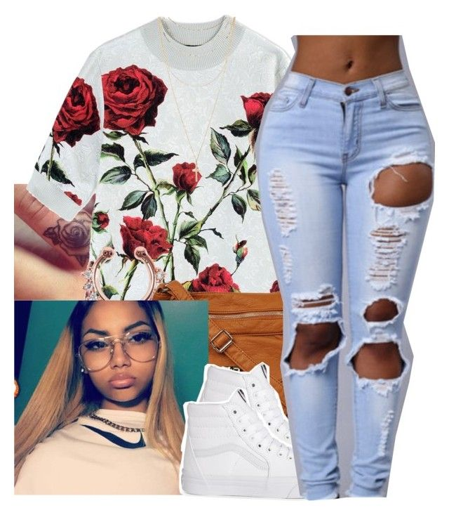 """""""untitled #95"""" by yani122 ❤ liked on Polyvore featuring Dolce&Gabbana, Vans and Forever 21"""