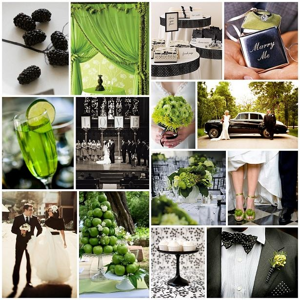 "I Love the ""Marry Me"" box, and the ceremony with L-O-V-E spelled out, and the fun pops of lime!"
