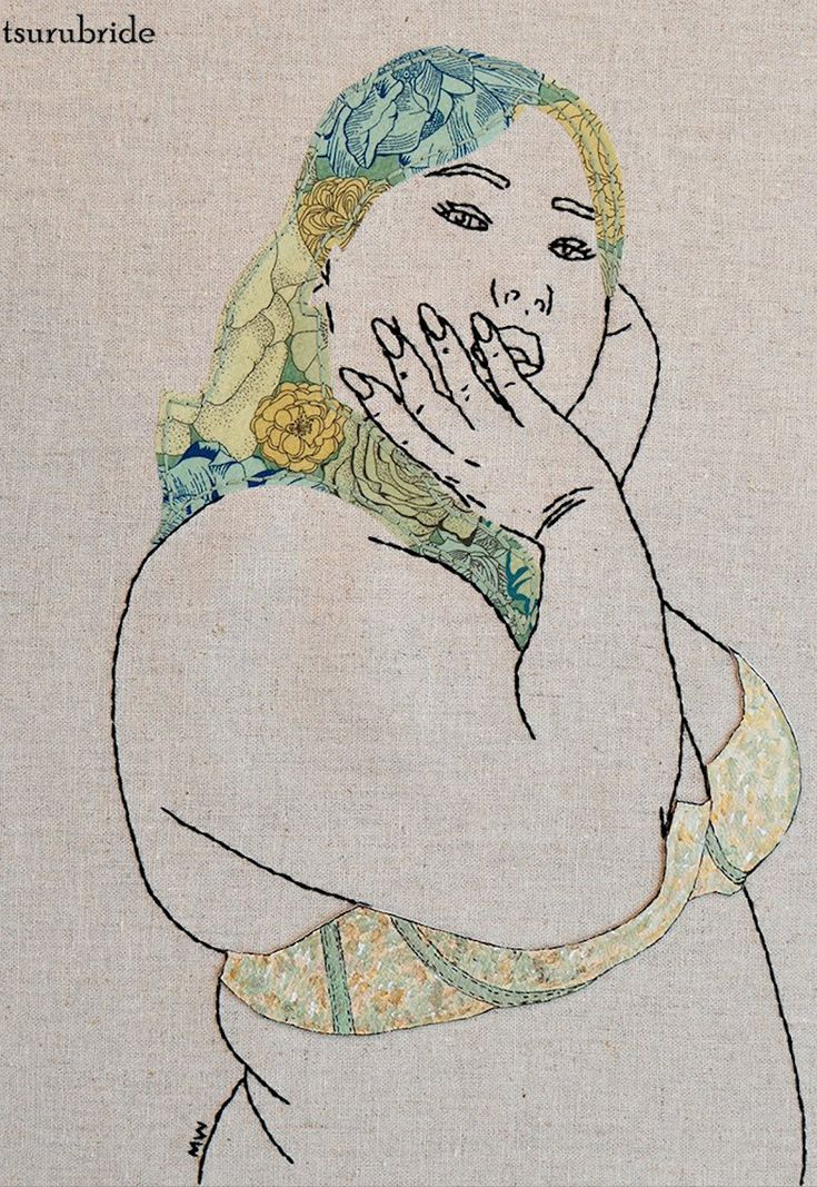 Body positive embroidery art by Meghan Willis