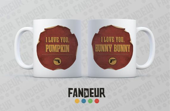 Pulp Fiction Hunny Bunny & Pumpkin Set of 2 Coffee / by Fandeur