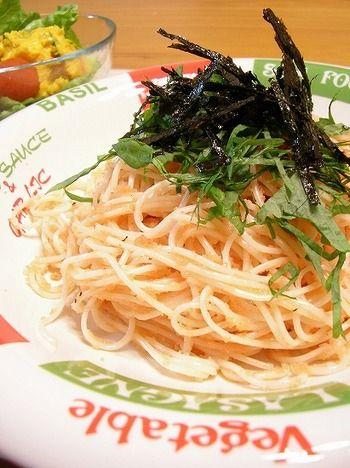 """余った""""素麺""""がおいしく素敵に大変身!簡単に出来るアレンジレシピを ... そうめんのたらこスパゲッティ風パスタと見間違えてしまいそう! めんつゆや"""