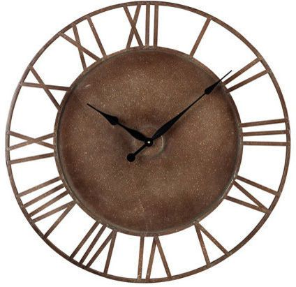 Roman Numeral Outdoor Wall Clock. Use this timeless clock style to accentuate your home. The Metal Roman Numeral Outdoor Wall Clock by Sterling is created with culture and style in mind, providing a product that can work with any industrial/urban decor. Affiliate
