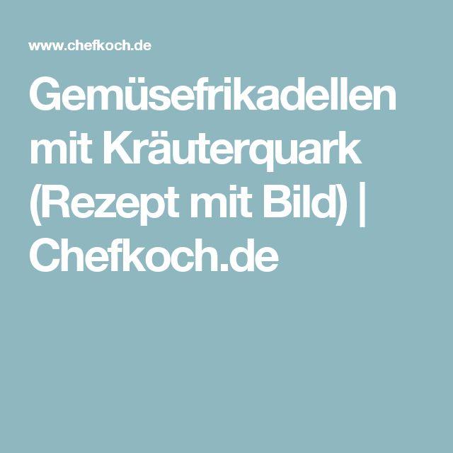 Gemüsefrikadellen mit Kräuterquark (Rezept mit Bild) | Chefkoch.de
