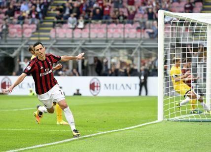 """Milan, Kalinic stende l'Udinese. Montella: """"Dedicata ad Andrea Conti e..."""""""