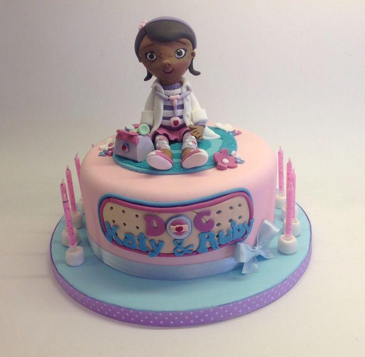 Doc mcstuffin's cake - Doc Mcstuffin's cake for two sisters.