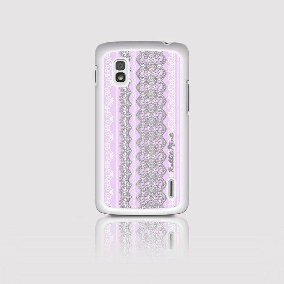 LG Nexus 4 Case  Lace & Lavender D2152-NX4W by rabbitmint on Etsy
