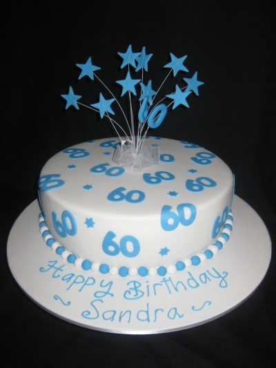 60th birthday By halleyec on CakeCentral.com