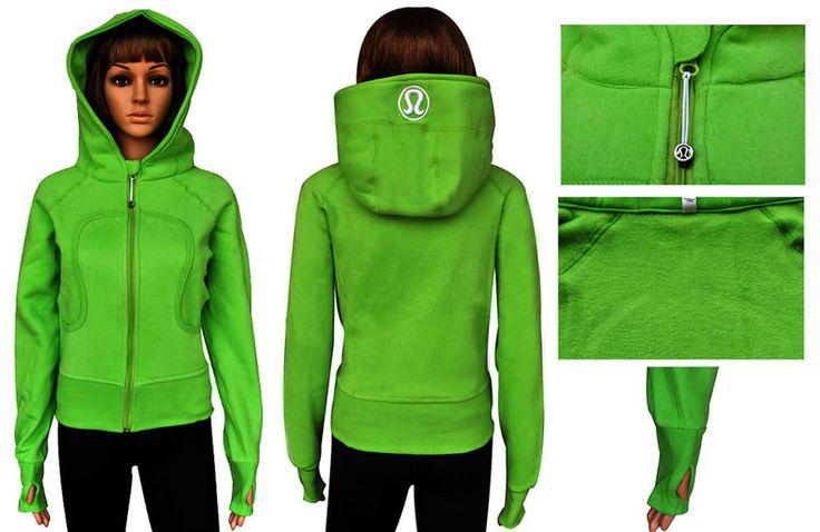 Cyber Monday Lululemon Sale Yoga Scuba Hoodies Apple Green New 2014
