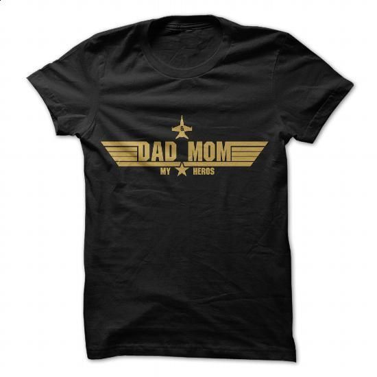 DAD and MOM MY HEROS - GOLD - #designer t shirts #plain hoodies. PURCHASE NOW => https://www.sunfrog.com/LifeStyle/DAD-and-MOM-MY-HEROS--GOLD.html?60505