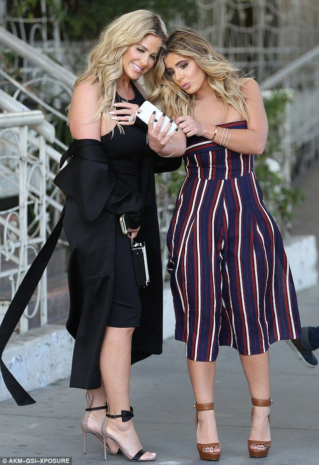 Selfie sisters! Kim Zolciak and daughter Brielle Biermann were spotted in West Hollywood o...