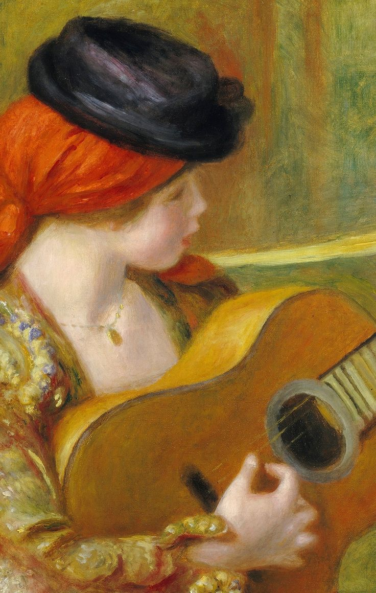 """""""Young Spanish Woman with a Guitar"""" (detail), 1898 Pierre-Auguste Renoir"""