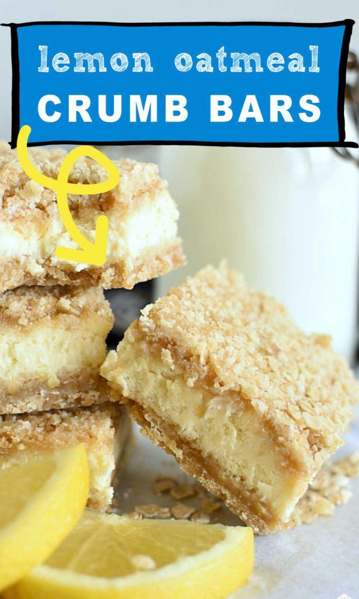 Lemon Oatmeal Crumb Bars In 2020 Lemon Dessert Recipes Citrus Desserts Lemon Recipes