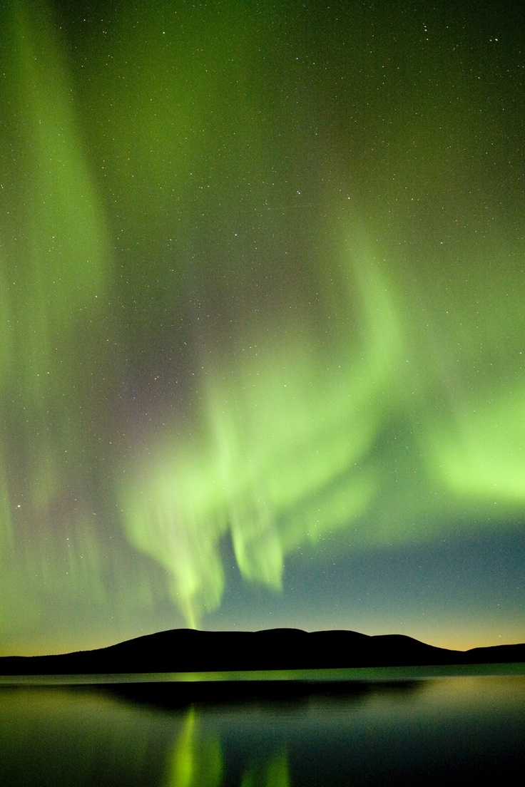 Northern Lights in Lapland of Finland.