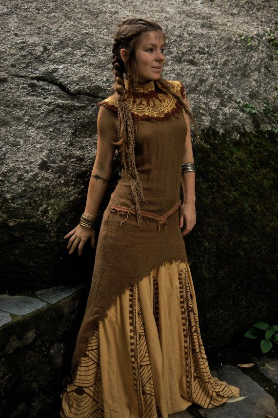 Tara Tribal No Cover Kleid aus fein Rohseide Natur Eco