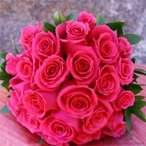 Hot Pink Rose Bouquet | rose bouquets are elegant romantic and simply beautiful hot pink roses ...