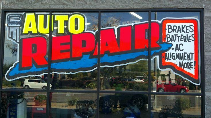 auto repair window painting advertising windowpaintingcom window splash pinterest shops