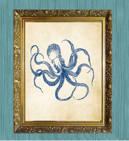 Crab Art Print Blue Crab Art 8 x 10 by HamiltonHousePrints2