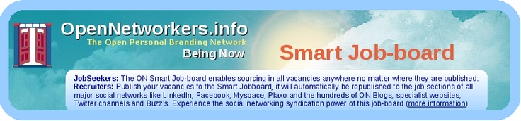 The Smart Job-board publishes jobs automatically (it takes 24 hrs.) to all major job-boards in social media: LinkedIn, Simply Hired etc. etc. as well as to hundres of blogs and the ON network for just 9$ per vacancy for 30 days!
