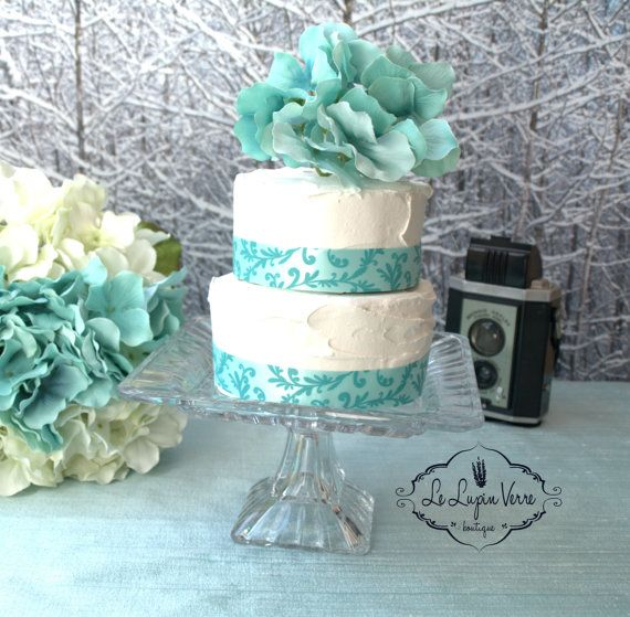 """7.5"""" Vintage Square Destination Wedding Cake Stand Cupcakes Hors d'Oeuvres Petit Fours Appetizers Candy Bar"""